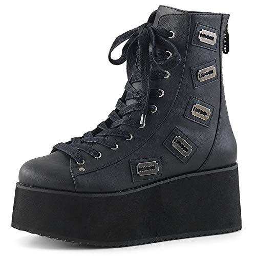 Demonia Gothic Lolita Ankle Boots Grip-103 schwarz Gr.38