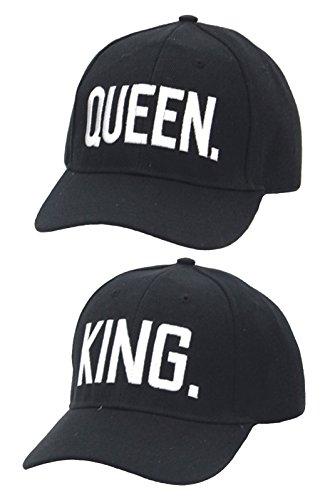 SchönerSchenken.EU Partner Cap im Set King & Queen Baseball Cap Base Cap mit hochwertiger Stickerei