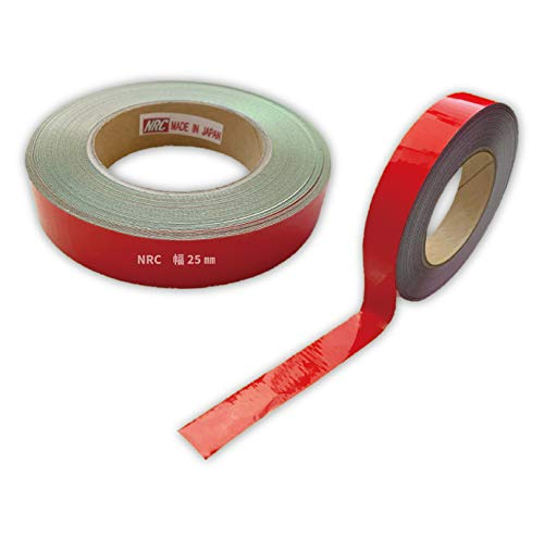 コンクリート用反射テープ 幅25mm×長さ1M〜10Mまで カット販売可能 プライマー不要! (長さ3M, 赤)