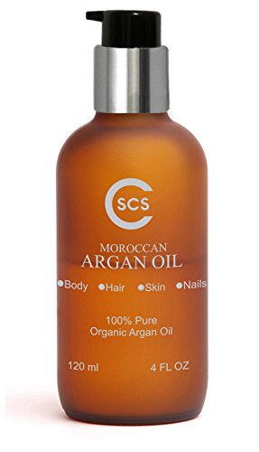 CSCS Pure Moroccan Argan Oil - Anti-Aging Skin Therapy - Helps Eczema, Psoriasis, & Dry, Itchy Skin - Promotes Soft, Supple Skin - Strengthens Hair and Nails - All-Natural & USDA Certified by CSCS