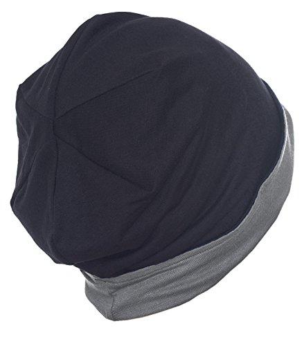 Deresina Headwear Unisex Reversible Beanie (Black/Grey)