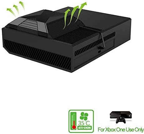 TNP Xbox One Cooling Fan - External USB Cooler Fan Stand with 2 Ports USB Hub for Xbox One Console (Black) [Xbox One]