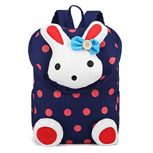 Kinderrucksack, BioasisAnti verloren Kinder Rucksack KindergartenrucksackMini Hase Schule Tasche für Baby Mädchen Kleinkinder 1-5 Jahre