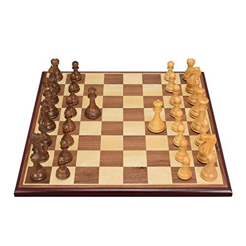 XWW Juego de ajedrez Internacional de Madera Hecho a Mano, Tablero de ajedrez portátil para escuelas, niños y Adultos, estimula tu Cerebro
