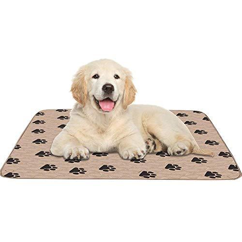 Pet Pee Pad Haustierunterlage, 3 Größen, Wiederverwendbar Trainingsunterlagen Hundematte Trainingsmatten Welpe Waschbare Welpenunterlage Saugfähig Puppy Trainings Pads für Hunde und Katzen,80x90cm