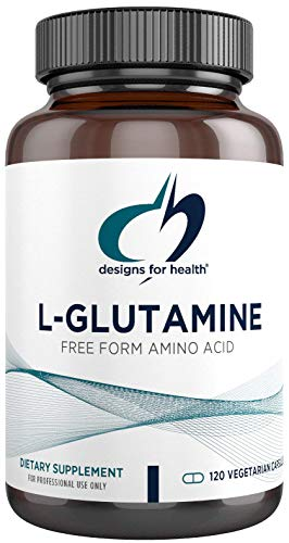 Designs for Health L Glutamine Capsules - 850mg Vegetarian Amino Acids Supplement to Support Muscle Recovery, Digestive, Immune + Gut Health - Non-GMO + Gluten Free (120 Capsules)