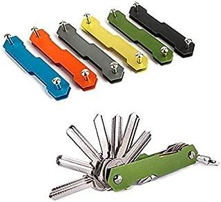 TOPIND 2Pcs Compact/Extended Key Organiser Portable Key Holder TOPIND Aluminum Smart Mini Key Clip Key Chain Pocket Key Ring Practical Multi Tool Keychain 2-10 Keys Suitable for Car Home Most Keys