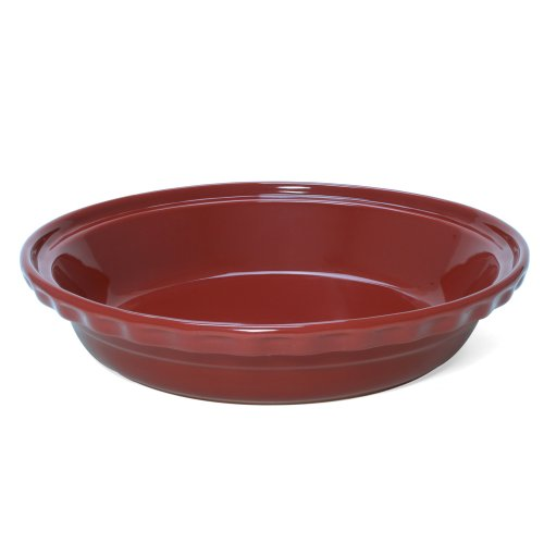 "Chantal Ceramic Deep Dish Pie, 9.5"", Apple Red"