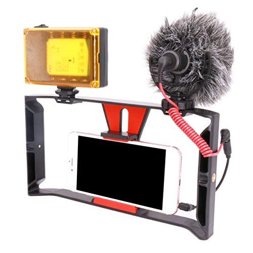Montante video di Ulanzi Palm Video Rig Smartphone Video Gear Setup Mount Stabilizzatore (Colore: nero)