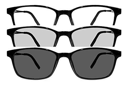 NOWAVE Occhiale neutro anti luce blu e fotocromatico. Occhiale per monitor di PC, Smartphone, TV e Tablet che diventa occhiale da sole. 2 occhiali in 1 Yoga Fotocromatico