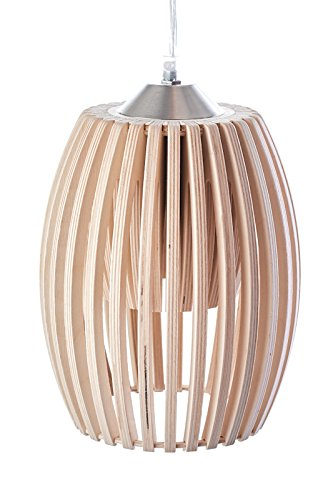 MK Design plafonnier lustre suspension en bois Avilo naturel