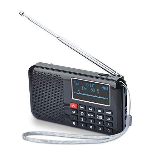 potente para casa COVVY-Altavoz de radio FM portátil MP3, linterna de emergencia, soporte para tarjeta micro TF …