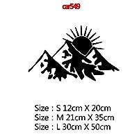 MIYU コンパスと山のアドベンチャーカーステッカーアートパターン装飾カーステッカーアクセサリーラップビニール接着剤ステッカーカーボディ (Color Name : Style18, Size : Size S)
