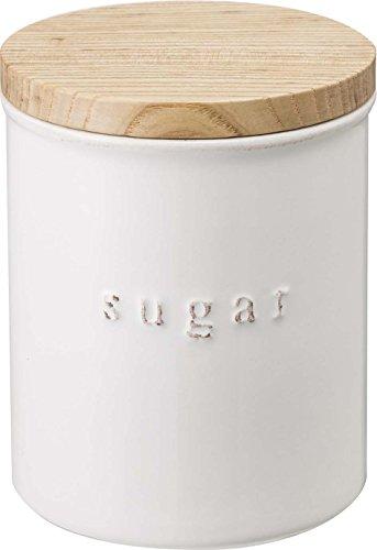 山崎実業 保存容器 陶器キャニスター トスカ シュガー ホワイト 3426