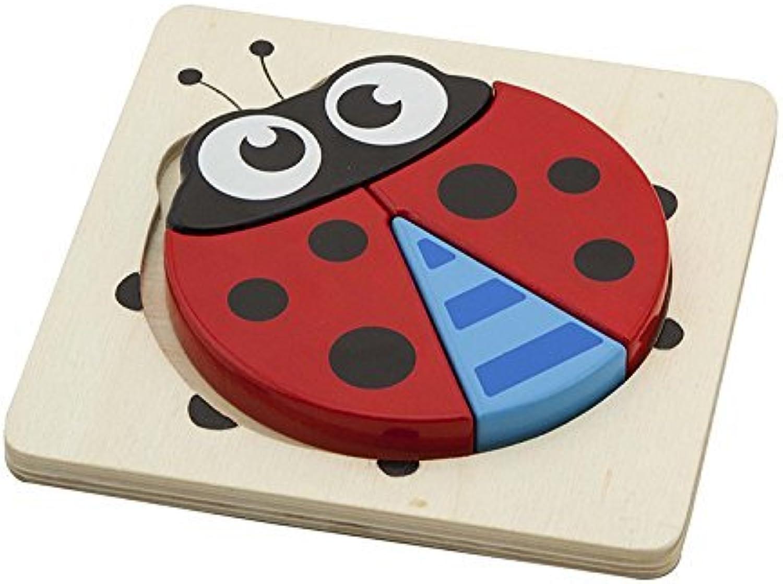 Viga Toys Wooden Block Puzzle  Ladybird   Ladybug by Viga