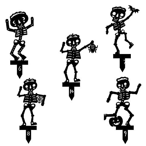 Skelett Boden Einfügung, Silhouette Kunst Ornamente, Schädel Kobold Statue Gartendekorationen, Kreativ Kunst Bodendekoration, Innen Draussen Dekoration Modellskulptur