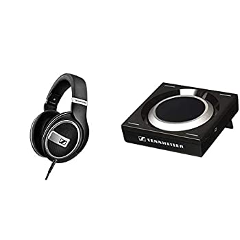 Sennheiser HD 599 SE Around Ear Open Back Headphone  Amazon Exclusive  & GSX 1000 Gaming Audio Amplifier 7.1 Surround Sound PC and MAC Gaming DAC and EQ for Windows Mac Laptops and Desktops