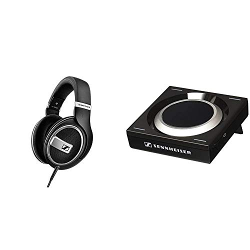 Sennheiser HD 599 SE Around Ear Open Back Headphone (Amazon Exclusive) & GSX 1000 Gaming Audio Amplifier, 7.1 Surround Sound, PC and MAC, Gaming DAC and EQ, for Windows, Mac, Laptops and Desktops