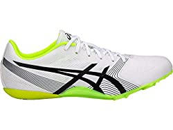 top rated ASICS Hyper Sprint 6 Men's Athletics Shoes 10m White / Black / Safe Yellow 2021