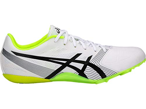 ASICS Men's Hypersprint 6 Track & Field Shoes, 7.5M, White/Black/Safety Yellow