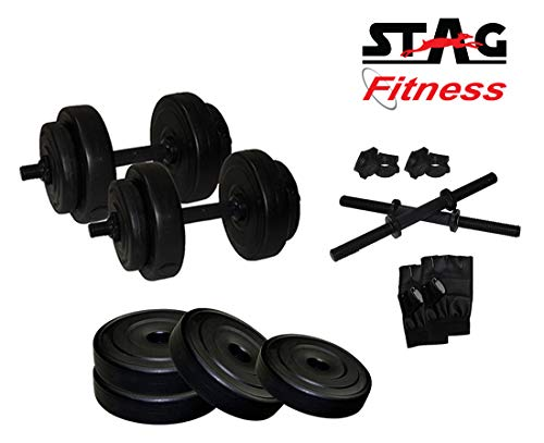 Stag Fitness SFPAD8G ADJUSTABLE PVC SUPERIOR DUMBBELL SET 8 KG