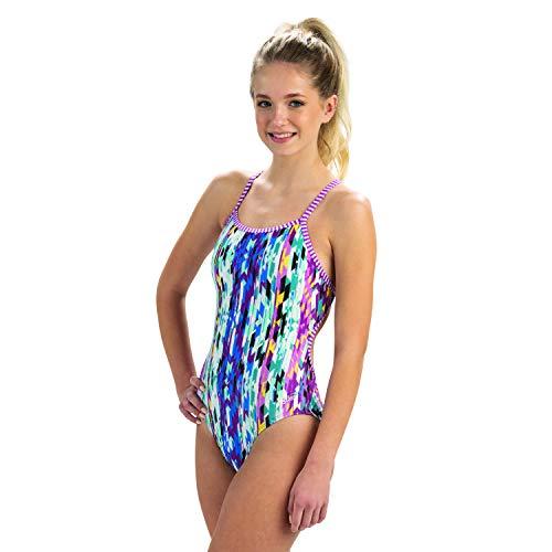 Dolfin Uglies Women's Swimwear String Back One Piece Swimsuit (Weave Me Alone, 28)