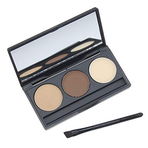 Anself 3 Couleur Palette De Poudre Sourcils Cosmetic Eye Brow Enhancer Étanche Maquillage Ombre À Paupières Avec Brosse Boîte De Miroir
