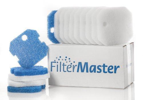 Filtermaster Aquarium-Wasserfilter BigPack Set 4 | Filter für EHEIM eXperience und Professionel 1 | Filtermatte & Filtervlies | Außenfilter