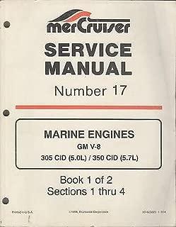 1995 MERCRUISER ENGINES #17 BOOK 1 of 2 GM V-8 305/350 CID SERVICE MANUAL (771)