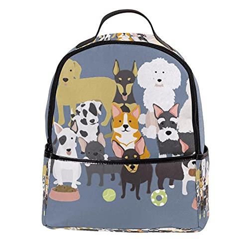 ATOMO Mini mochila casual perros lindos cachorros colección pu cuero viaje compras bolsas Daypacks
