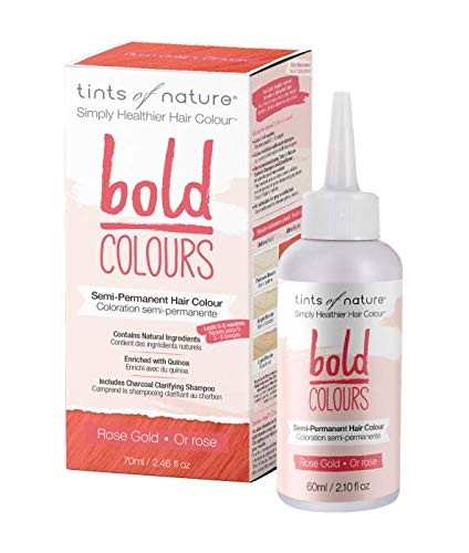 Tints of Nature Bold Rose Gold, Vegan Semi Permanent Natural Hair Dye, Ammonia, PPD, Parabens, Silicone and Sulfates Free, Single