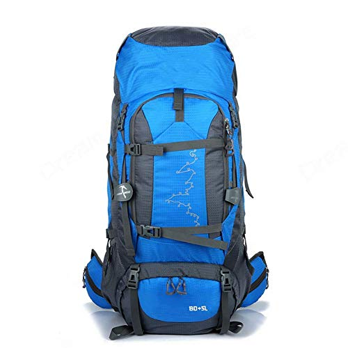 SHRAY Backpack Hiking The Grand 85L Waterproof Travel Bag for Men and Women Trekking Rucksack, Travelling Hiking Backpack for Outdoor, Travel, Camping Blue