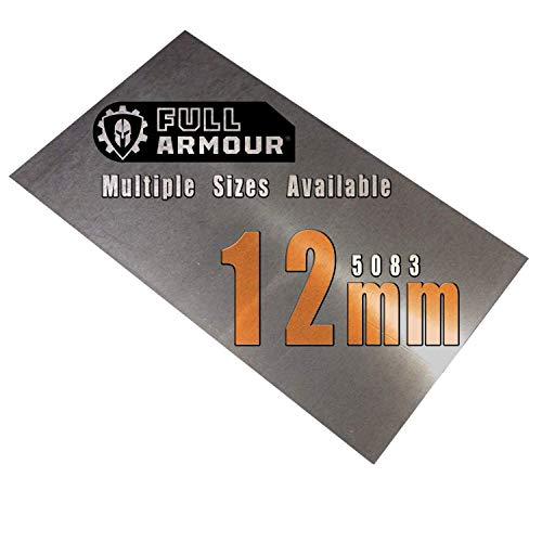 Placa de aluminio de 12 mm – 5083 (150 mm x 250 mm)