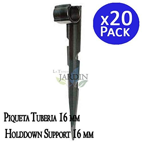 20 Stück GARTENSCHLAUCH-ANKER Boden Befestigungsanker für Tropfschlauch Perlschlauch. Verhindert, dass das Rohr durch Wind oder Falten angehoben wird