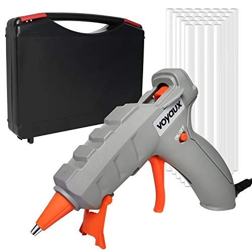 Hot Glue Gun, Heats Up Quickly 50W Hot Melt Glue Gun & Sticks(30pcs 7 150mm) with Carrying Case, Rapid Preheating with PTC Heating Technology, Sealing and Quick Repairs.