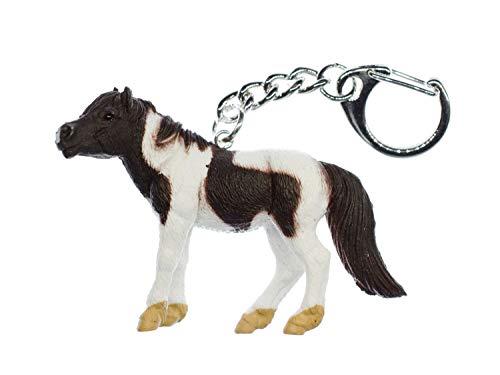 Miniblings Pferd Schlüsselanhänger Pinto Pony Island Pferde Ponyhof - Handmade Modeschmuck I I Anhänger Schlüsselring Schlüsselband Keyring