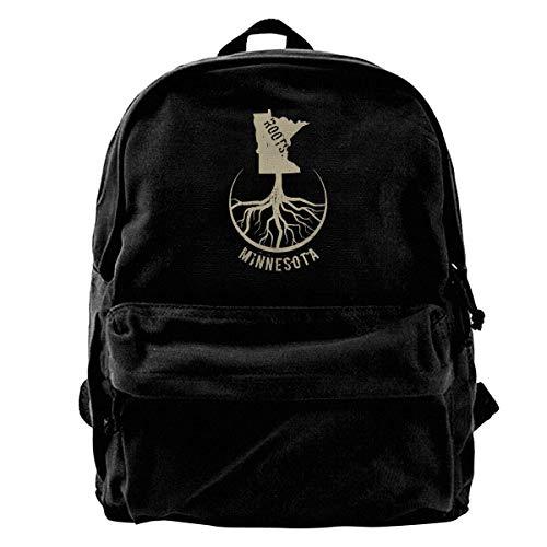 Backpack Minnesota Roots Canvas Rucksack Männer Umhängetaschen Drucken Leichter Reiserucksack Geschenkbuch Schulgeburtstag Daypack Lässige Frauen Laptop Rucksack Niedlich Einzigar