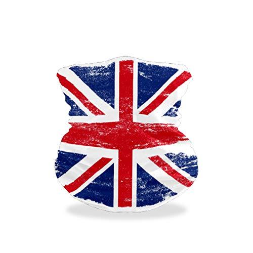 The British Flag Is Old Outdoor Multifunctional Sports Magic Seamless Scarf Headwear Elastic Headband Bandana UV Resistence Sport Headwear Turban Wide Headscarves Balaclava Tube for Camping,Cycling
