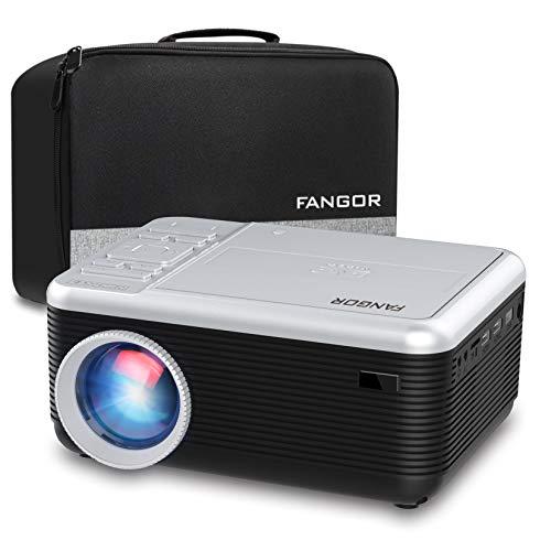 FANGOR プロジェクター 一体型 DVDプレーヤー BLUETOOTH機能 リージョンフリー 5500ルーメン CPRM対応 ホームプロジェクター DVD内蔵 解像度1920×1080対応 フルHD対応 スマホ/パソコン/スピーカー/DVDプレーヤー/ゲーム機/USBメモリー/Fire TV Stickに対応 36ヶ月保証