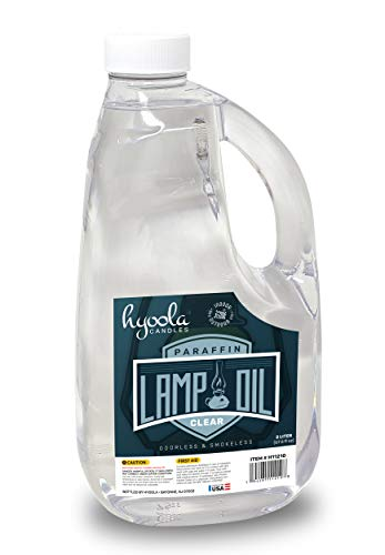 HYOOLA Liquid Paraffin Lamp Oil - Clear Smokeless, Odorless, Ultra Clean Burning Fuel for Indoor and Outdoor Use - Highest Purity Available - 2 Liter