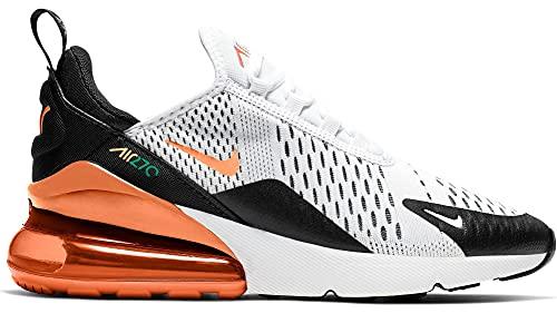 Nike Jungen Air Max 270 (GS) Sneaker Weiß/Orange/Schwarz 40 EU