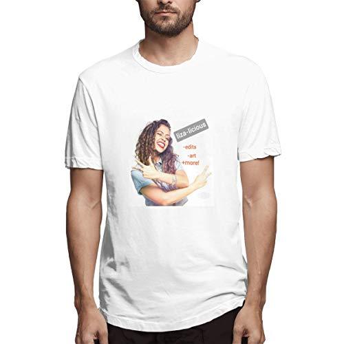 Genertic Liza Koshy T-Shirt Uomo Moda Casual Sport Cotone Manica Corta T-shirt Top bianco 4XL