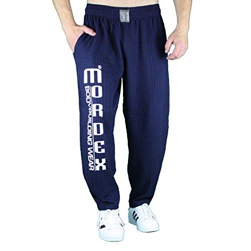 MORDEX G Lange Fitnesshose Trainingshose Bodybuilding (dunkelblau, XL)