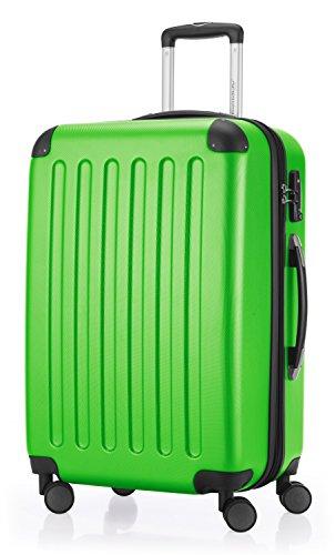 HAUPTSTADTKOFFER - Spree - Hartschalen-Koffer Koffer Trolley Rollkoffer Reisekoffer Erweiterbar, TSA, 4 Rollen, 65 cm, 74 Liter, Apfelgrün
