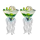 Octopus Martini Glass Creative Cocktail Drinkware Bar Goblet Tools (2 Transparent)