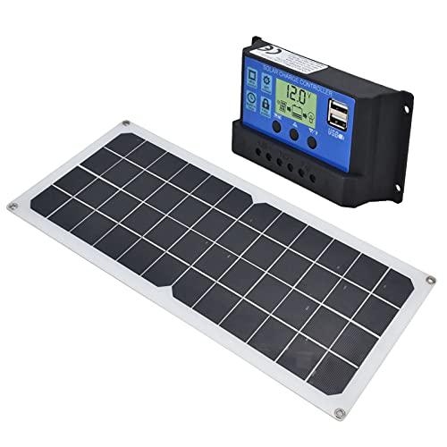 Eulbevoli Módulo De Carga Solar, Cargador De Panel Solar De 10 W Fácil De Transportar para Ciclismo Al Aire Libre para Viajar para Accesorios Electrónicos