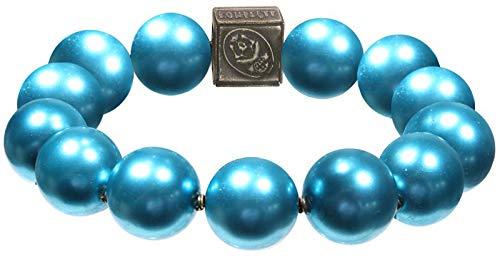 Konplott Armband Salsa Invernal türkis-blau-Brass