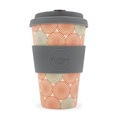 Swirl Ecoffee-Becher aus Bambusfaser, tropffreier Deckel, spülmaschinenfest
