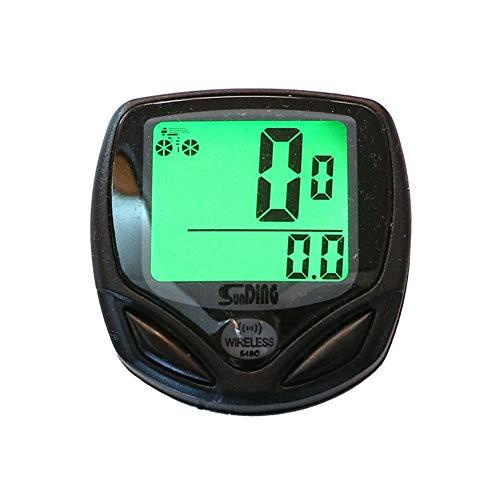 Bicycle Speedometer and Odometer Wireless Waterproof Cycle Bike Computer with LCD Display & Multi-Functions Black