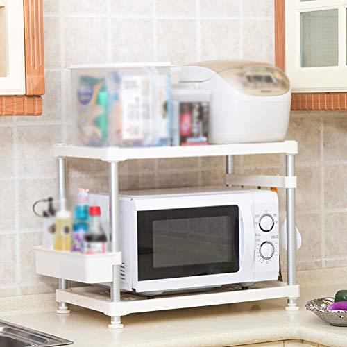 Kitchen furniture - Support de rangement double avec étagères en plastique de cuisine en rack de four micro-ondes cuisine rack WXP